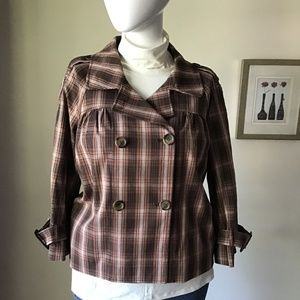 NWOT plaid Liz Claiborne jacket